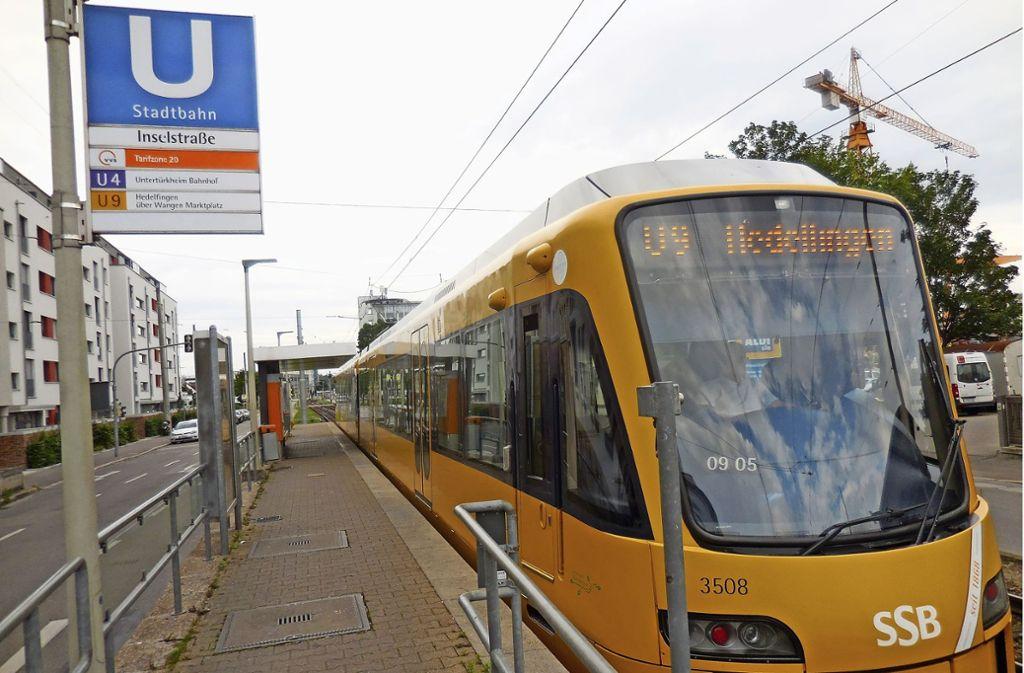 An der Stadtbahnhaltestelle Inselstraße fehlt bislang ein DFI-Anzeiger. Foto: Elke Hauptmann