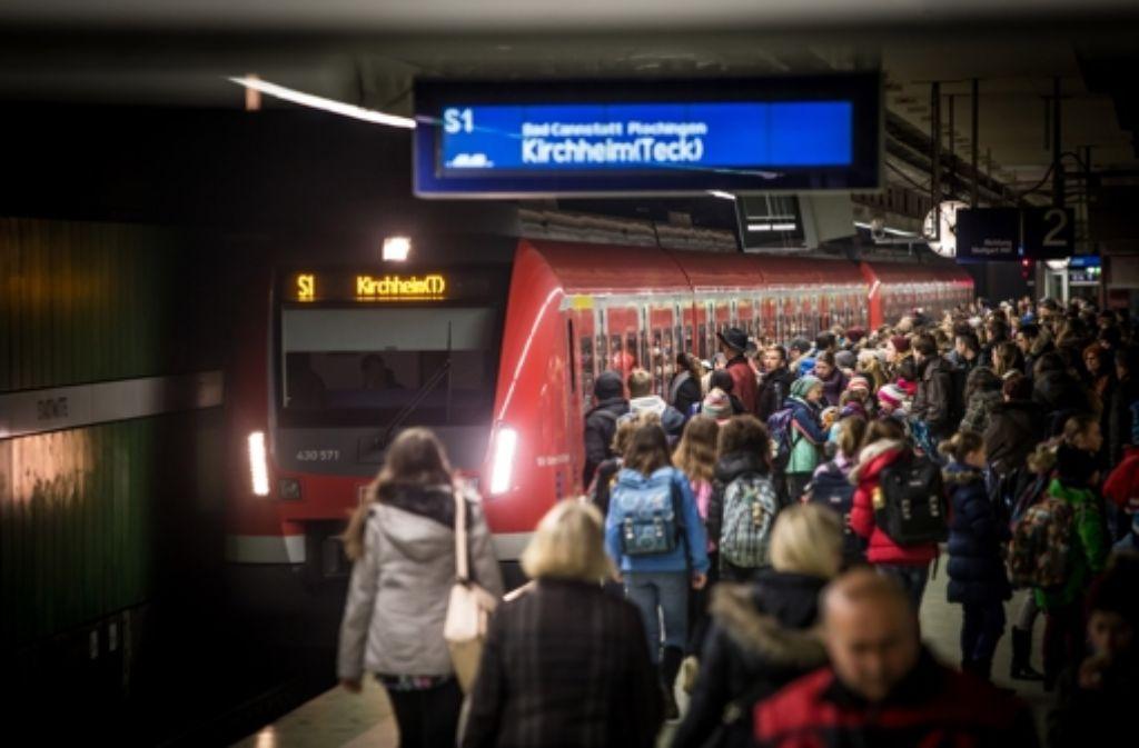 Eine neue Sicherungstechnik könnte die Kapazität auf der unterirdischen S-Bahn-Strecke in der Innenstadt erhöhen. Foto: Lichtgut/Achim Zweygarth
