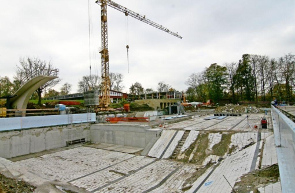 Das Höhenfreibad Killesberg wird momentan umgebaut. Foto: Torsten Ströbele