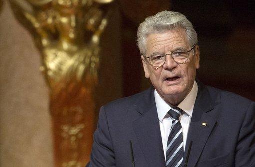 Gauck  löst Streit mit Ankara aus