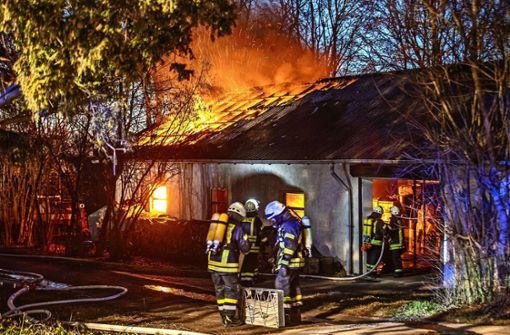 Zwei Pferde nach Scheunenbrand umquartiert