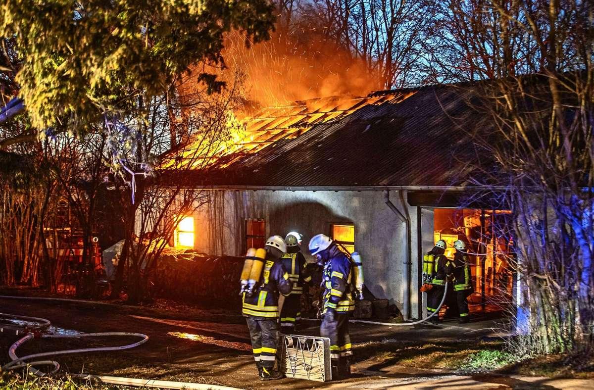 Beim Brand in Kirchberg entstanden rund 50000 Euro Schaden. Foto: 7aktuell.de/Adomat