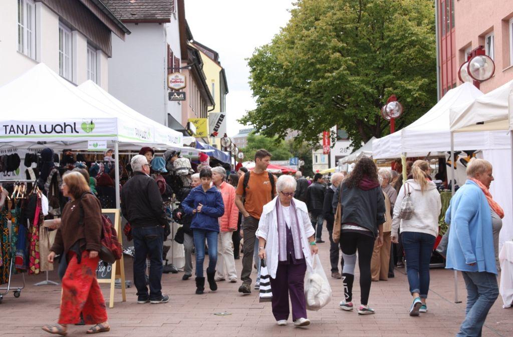 Beim Möhringer und beim Vaihinger Herbst (im Bild) werden die Läden in  diesem Jahr geöffnet sein. Foto: Archiv Rebecca Stahlberg