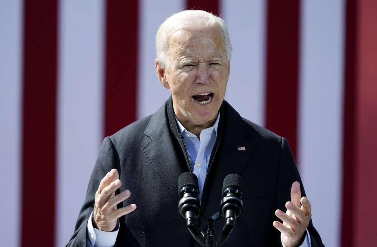 Herausforderer Joe Biden erhebt gegen den Präsidenten Donald Trump Vorwürfe. (Archivbild) Foto: dpa/Carolyn Kaster