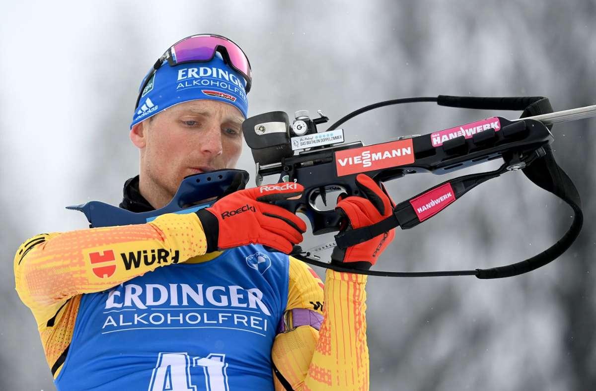 Erik Lesser verpasste sogar die Qualifikation für die Verfolgung am Sonntag. Foto: dpa/Sven Hoppe