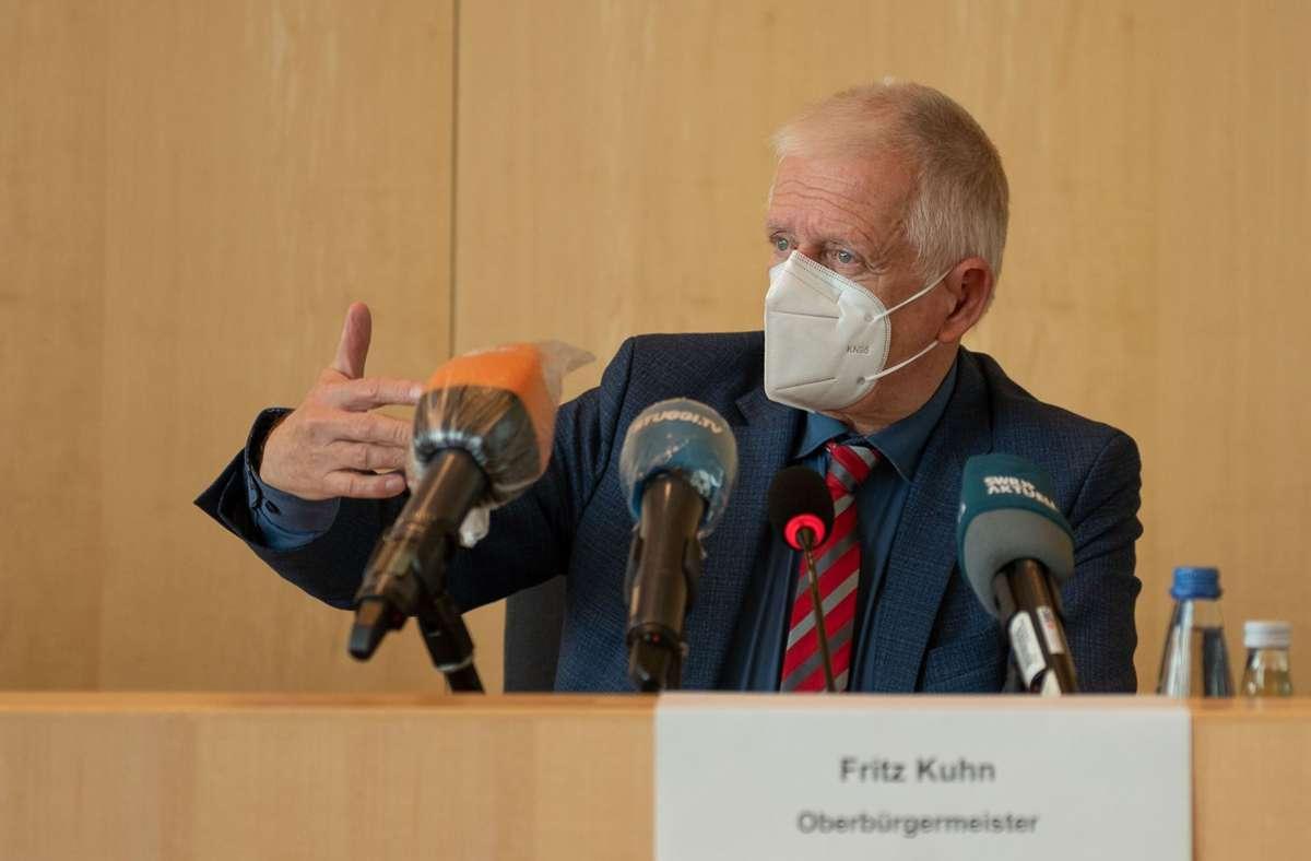 Oberbürgermeister Fritz Kuhn (Grüne) findet den Warnstreik das Klinikums Stuttgart unverantwortlich. Foto: Lichtgut/Leif Piechowski
