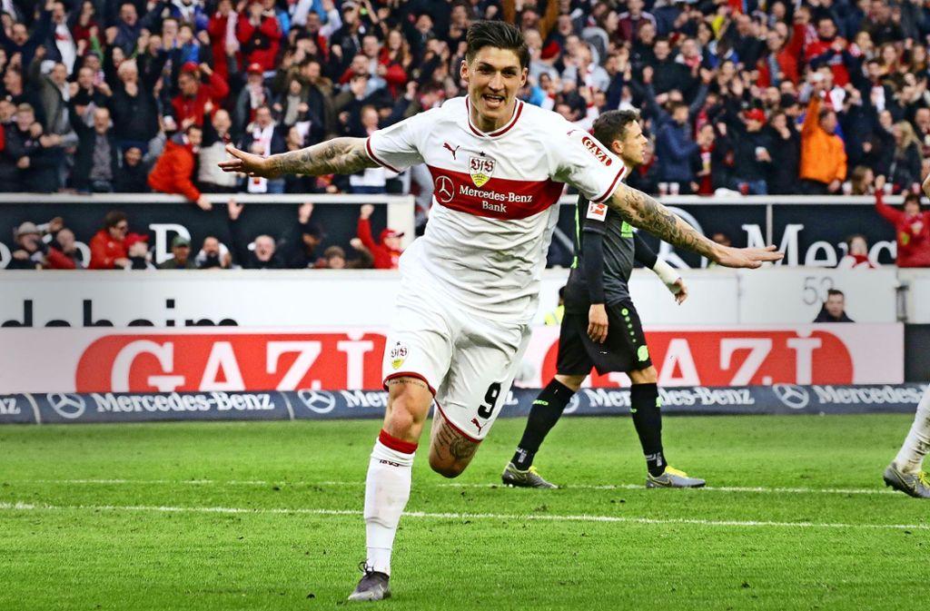 Steven Zuber hat in den jüngsten vier Spielen viermal für den VfB getroffen. Foto: Baumann