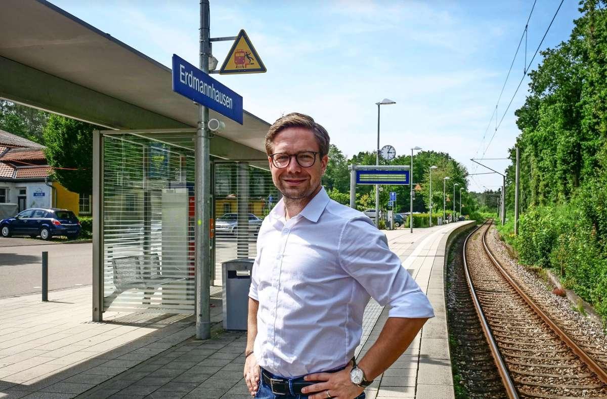 Fabian Gramling mag Lösungen wie am Erdmannhäuser S-Bahnhof. Foto: Simon Granville