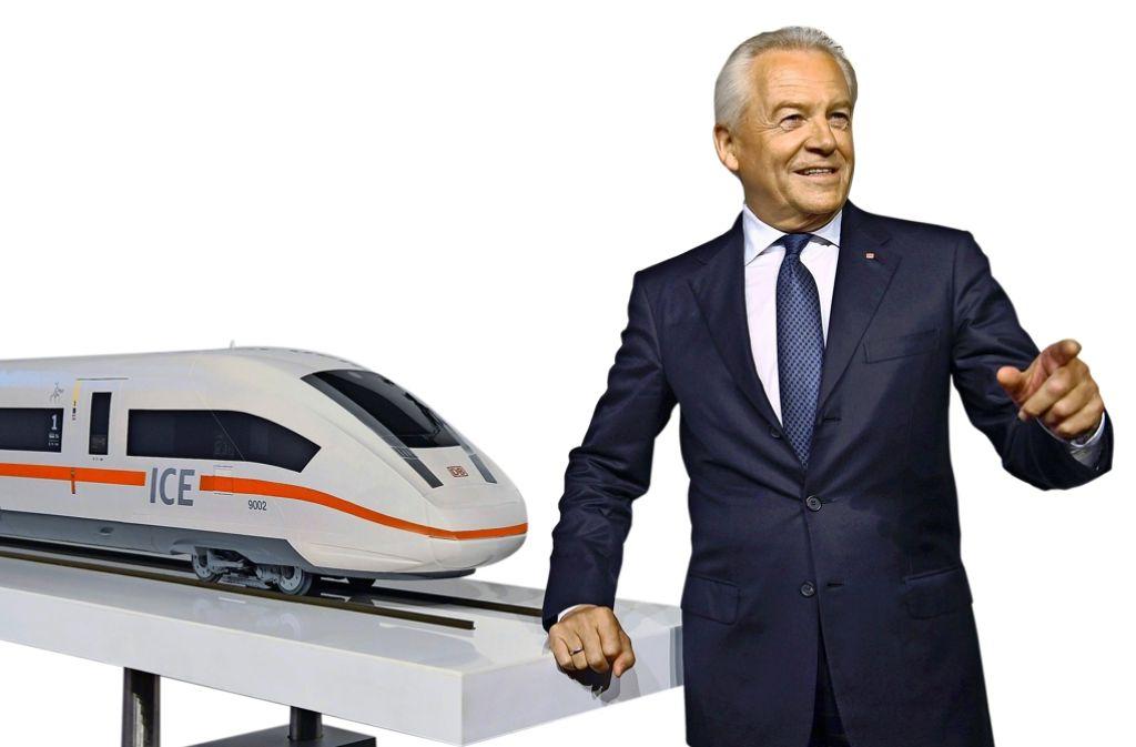 Bahnchef Grube verspricht, dass die neuen Intercity-Express-Züge weniger Mängel bei Klimaanlagen, Toiletten, Türsteuerungen und Bordküchen haben werden als die Vorgängergeneration. Foto: dpa