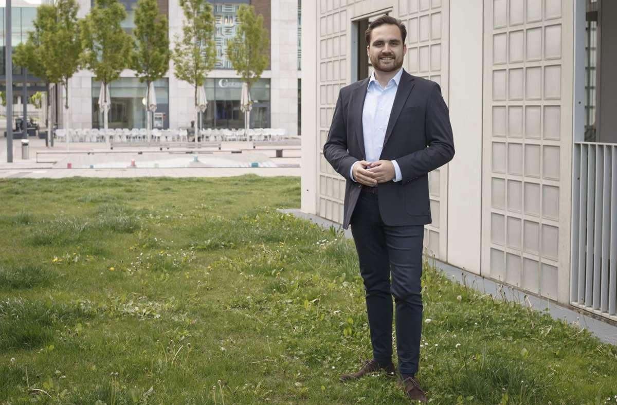 Maximilian Mörseburg wurde frisch in den Bundestag gewählt. Foto: Lichtgut/Julian Rettig