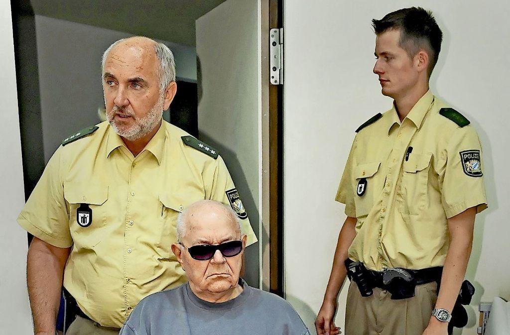 Der NS-Täter John Demjanjuk im Jahr 2008 im Landgericht München Foto: dpa