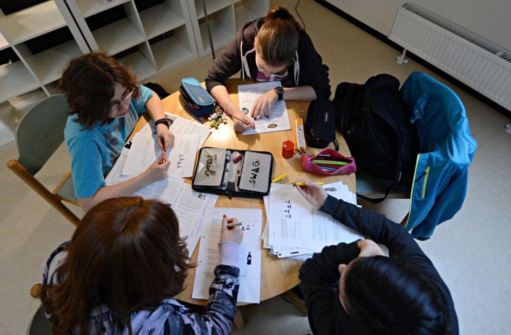 Hochbegabte Schüler unter sich in Schwäbisch Gmünd. Foto: dpa