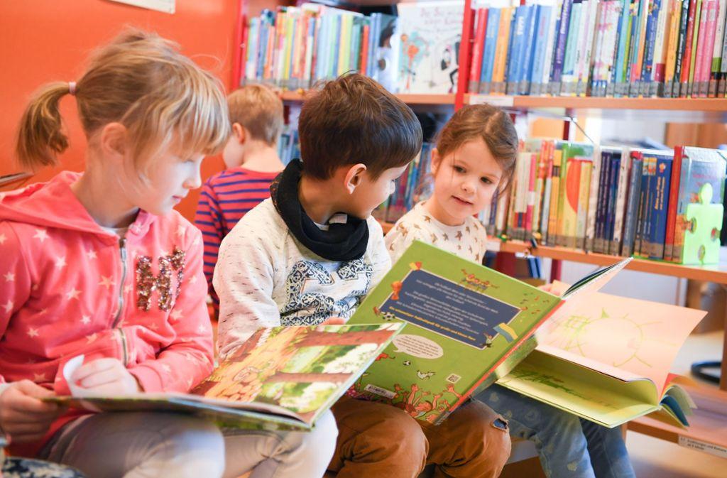 Trotz der Digitalisierung stehen Büchereien bei Kindern und vielen Erwachsenen nach wie vor hoch im Kurs. Foto: dpa/Arne Dedert