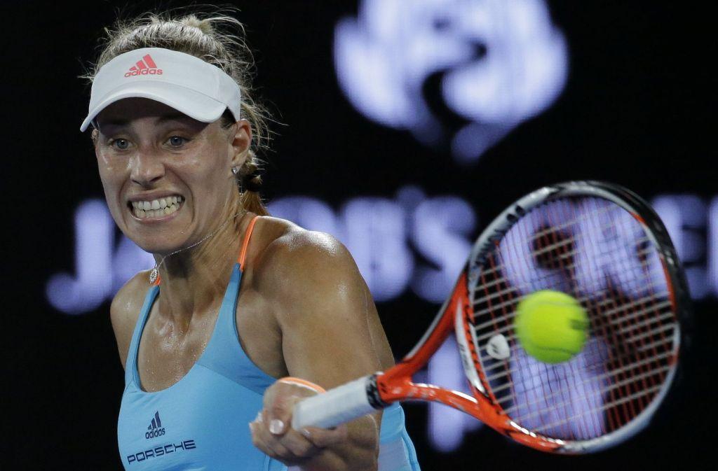 Angelique Kerber ist mit einem mühsamen Erfolg in die Australian Open gestartet. Foto: AP