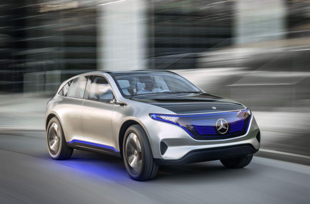 In Paris hat Daimler seinen ersten E-SUV vorstellt, der Vorbote für eine neue, rein elektrisch betriebene Produktfamilie. Foto: Daimler