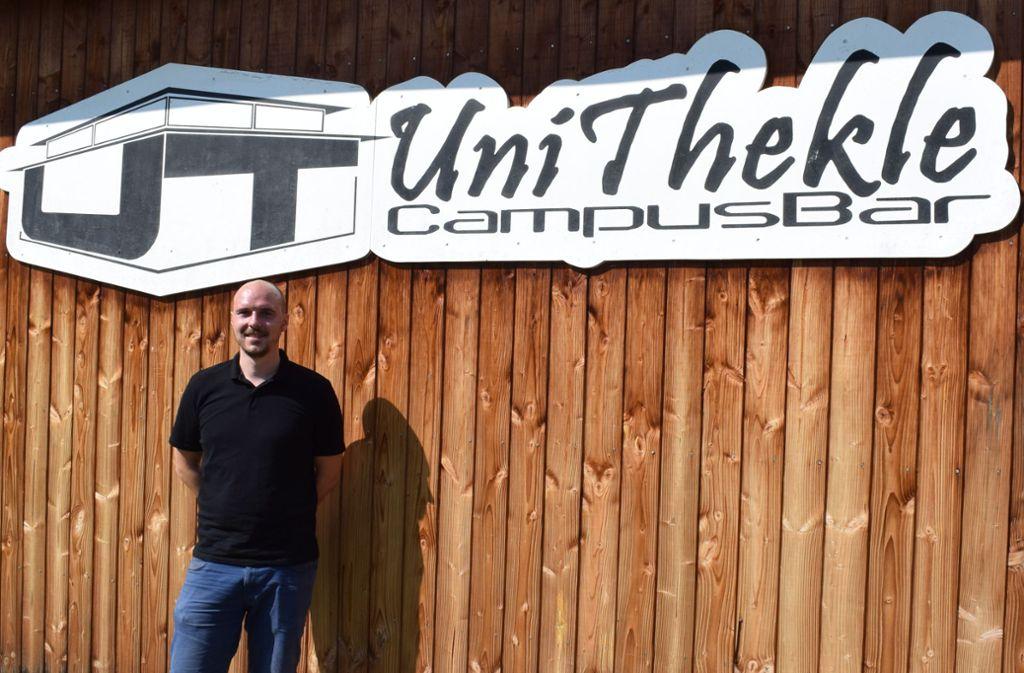 Das Unithekle hat sich zum Treffpunkt auf dem Campus etabliert, sagt Stups-Geschäftsführer Dieter Ruß. Foto: Patrick Steinle