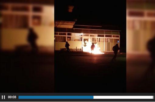 Brandanschlag auf Moschee - Täter vermutlich kurdische Extremisten