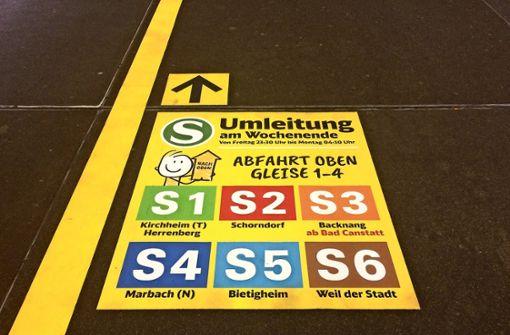S-21-Arbeiten stoppen S-Bahn