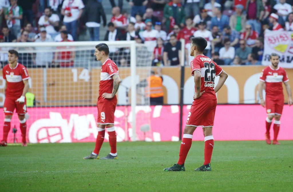 Debakel für den VfB Stuttgart beim FC Augsburg. Unsere Redaktion hat die Leistungen der VfB-Akteure wie folgt bewertet. Foto: Pressefoto Baumann