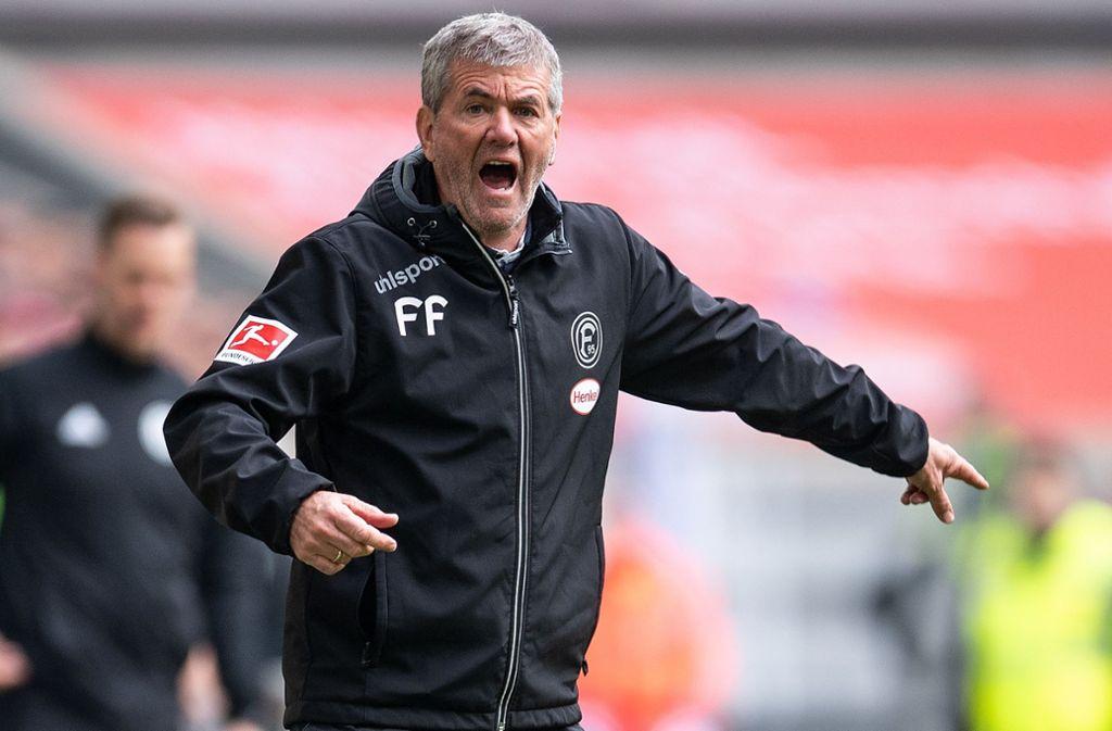 Fortuna Düsseldorf hat sich von Trainer Friedhelm Funkel getrennt. Foto: dpa/Marius Becker
