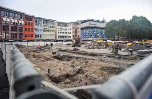 Marktplatz-Baustelle macht Pause