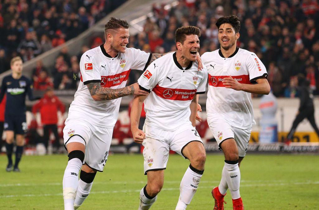 Mario Gomez und Daniel Ginczek verkörpern die Offensivkraft des VfB.Foto:Baumann Foto: