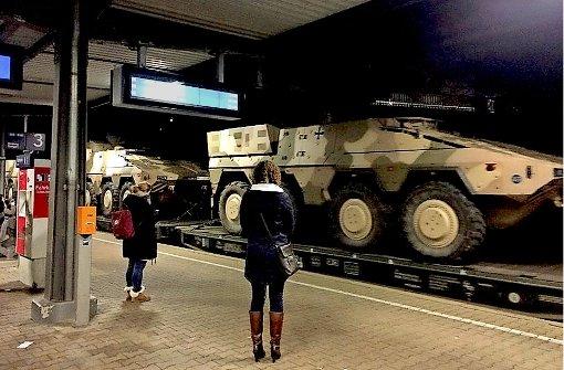 Wenn statt der S-Bahn die Panzer einfahren