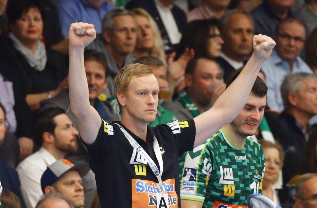 Christian Schöne, der Sportliche Leiter von Frisch Auf Göppingen, spielte früher auf der Rechtsaußen-Position in der Nationalmannschaft. Foto: Baumann