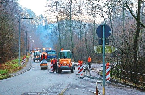 Bus-Stopp soll auch den Verkehr bremsen