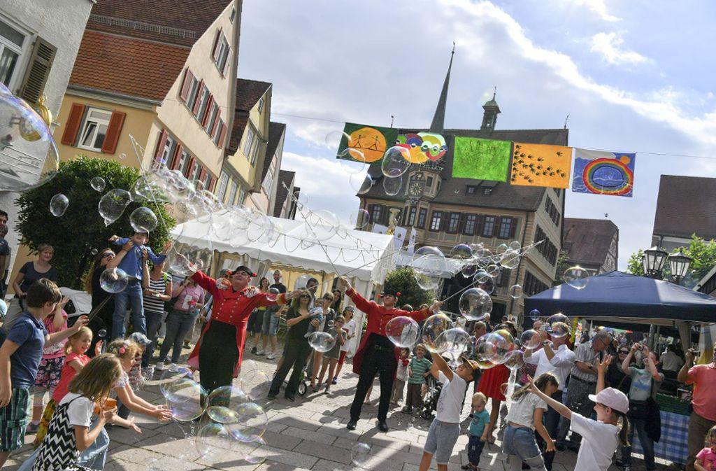 Ein Fest für die ganze Familie: das Wunderland in der Bietigheimer Altstadt, hier im Jahr 2016. Foto: Sabine Braun