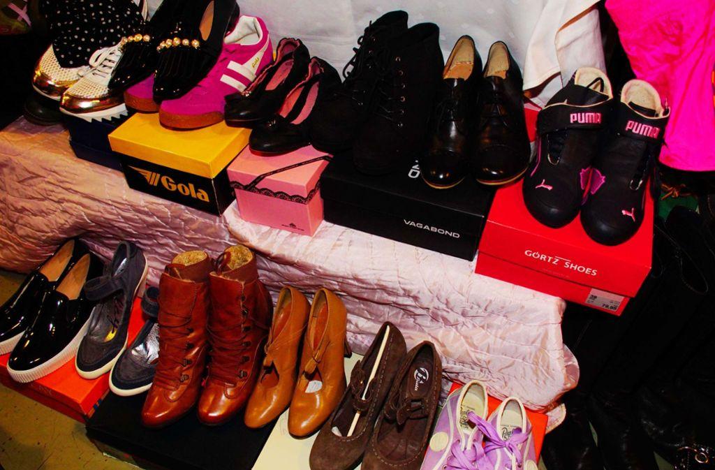 Begehrt: Modische Schuhe aus zweiter Hand. Foto: Andreas Rosar