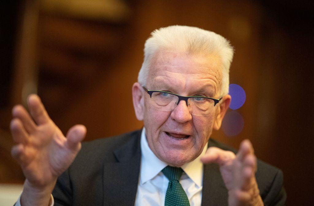 Kretschmann ist seit 2011 Ministerpräsident in Baden Württemberg. Foto: dpa/Sebastian Gollnow