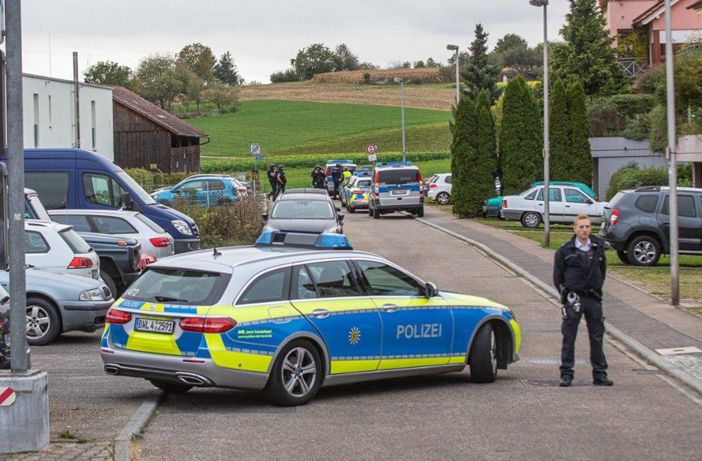 Die Polizei war am Dienstagnachmittag zu einer Unterkunft in Schwaikheim ausgerückt. Foto: aktuell.de/Simon Adomat