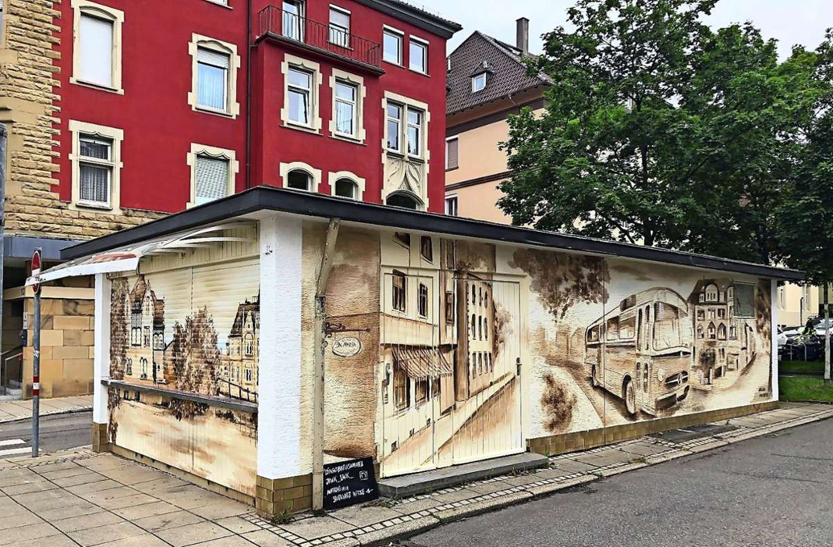 Bald schönstes Behinderten-WC? Der Kiosk in  der Helfferichstraße.. Foto: Stuttgart Netze