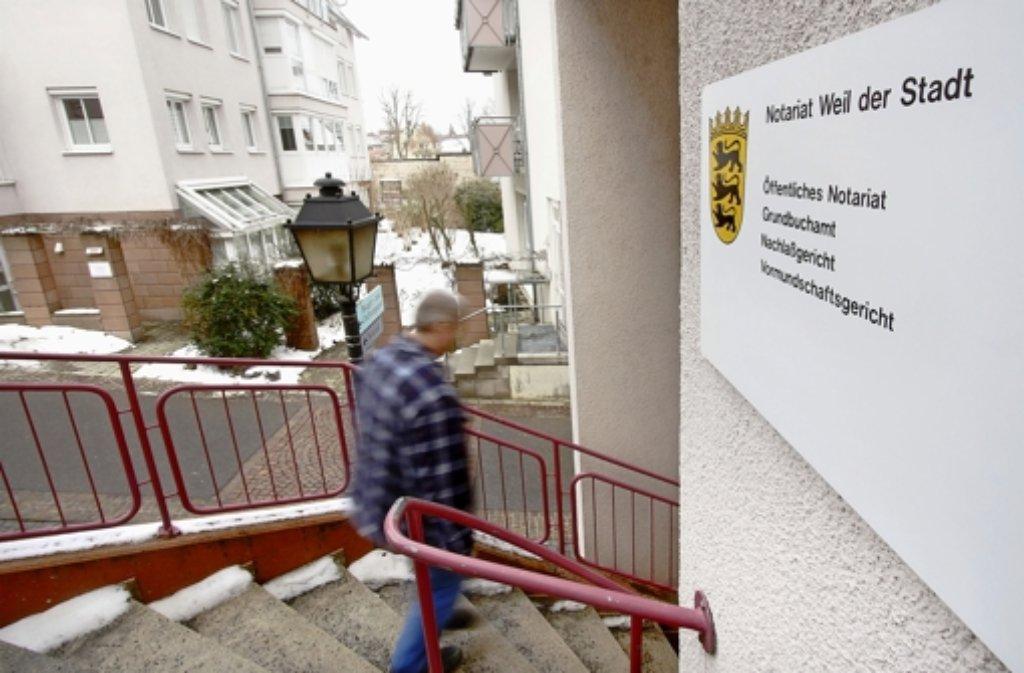 Auch das Notariat in Weil der Stadt soll 2018 weichen. Foto: FACTUM-WEISE