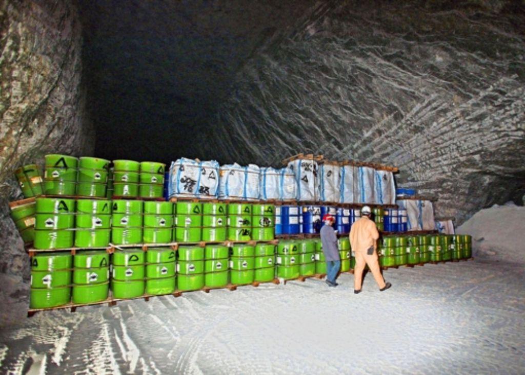 Giftmüll im Salzbergwerk Heilbronn: halbvolle Kammern soll es nach den beiden Gesteinsabbrüchen künftig nicht mehr geben. Foto: dpa