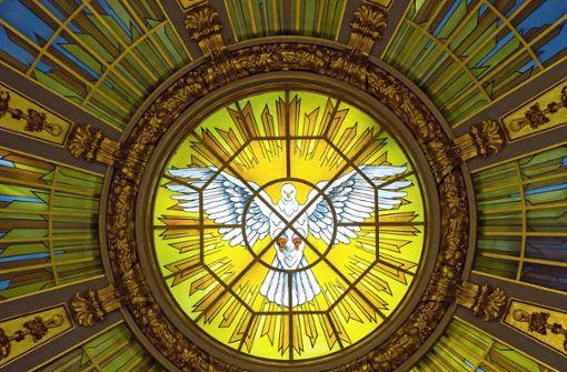 Gläubige feiern Pfingsten auch  unter freiem Himmel