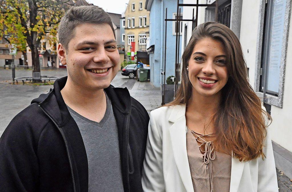Ramón Haaf und Adriane Gaßmann freuen sich über ihre Aufgaben. Foto: Georg Linsenmann
