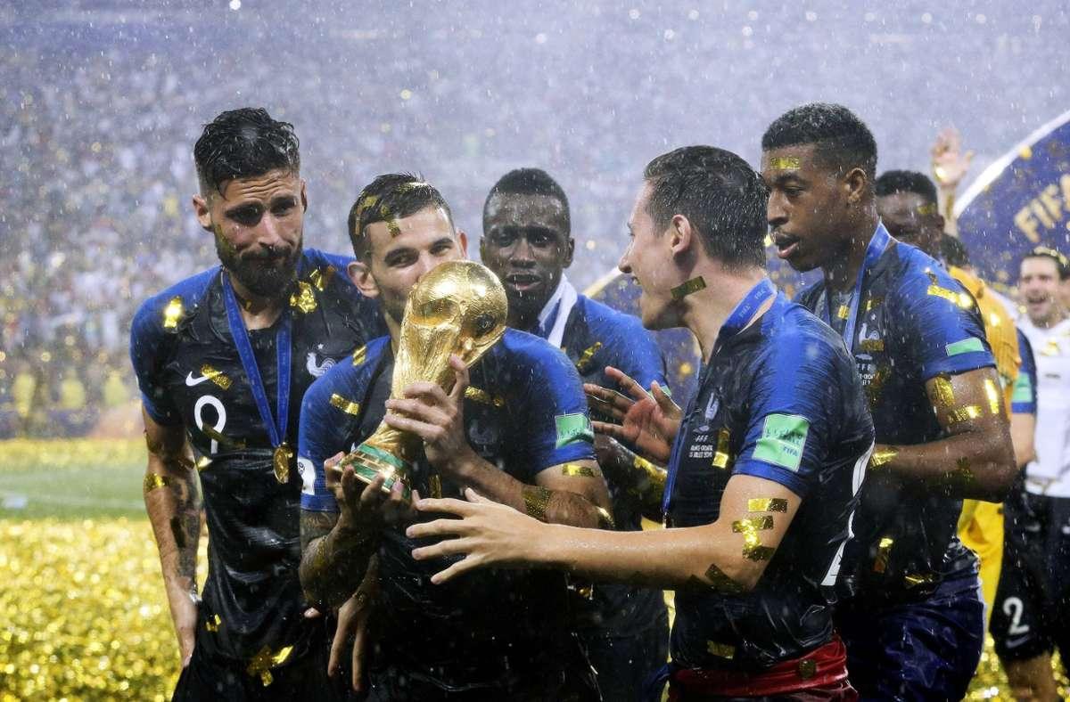 Frankreich wurde 2018 Weltmeister und trifft bei der EM 2021 auf Deutschland. Foto: imago/Laci Perenyi