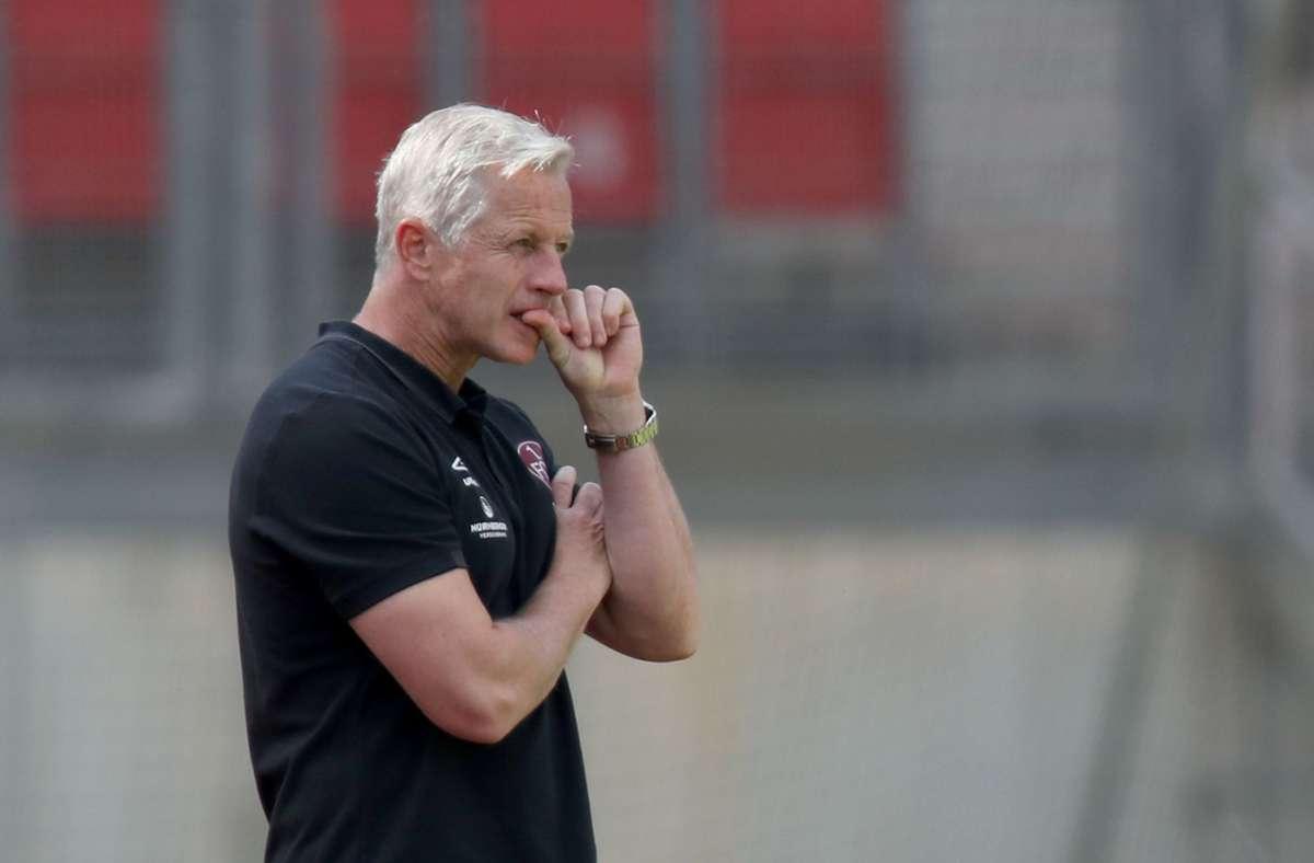 Jens Kellers Zeit beim 1. FC Nürnberg ist abgelaufen. Foto: dpa/Daniel Karmann