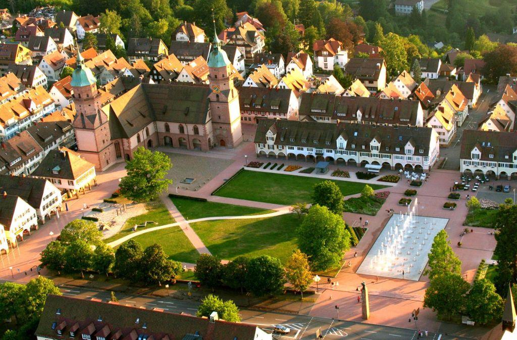 Blick auf Deutschlands größten Marktplatz  Foto: Freudenstadt Tourismus
