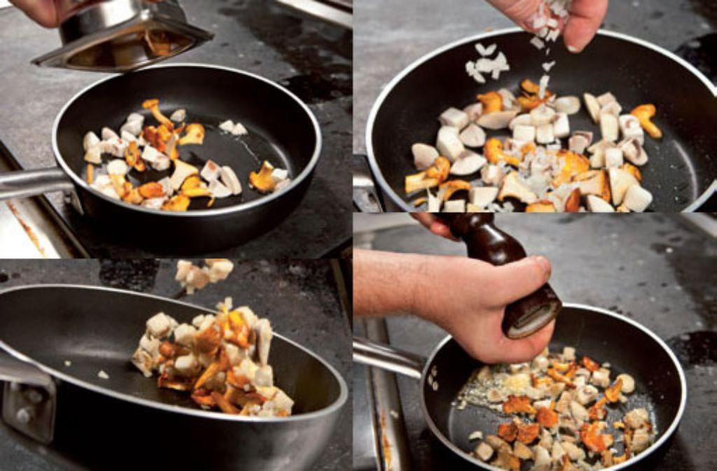 Pilze richtig anzubraten ist gar nicht so schwer. Foto: Verlagsedition netzwerk