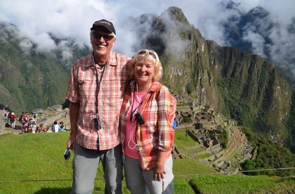 Da waren sie noch unterwegs: Silke und Ulrich Lechler in der Ruinenstadt  Machu Picchu in Peru. Die beiden fahren seit Herbst 2019 die Panamericana ab. Foto: privat