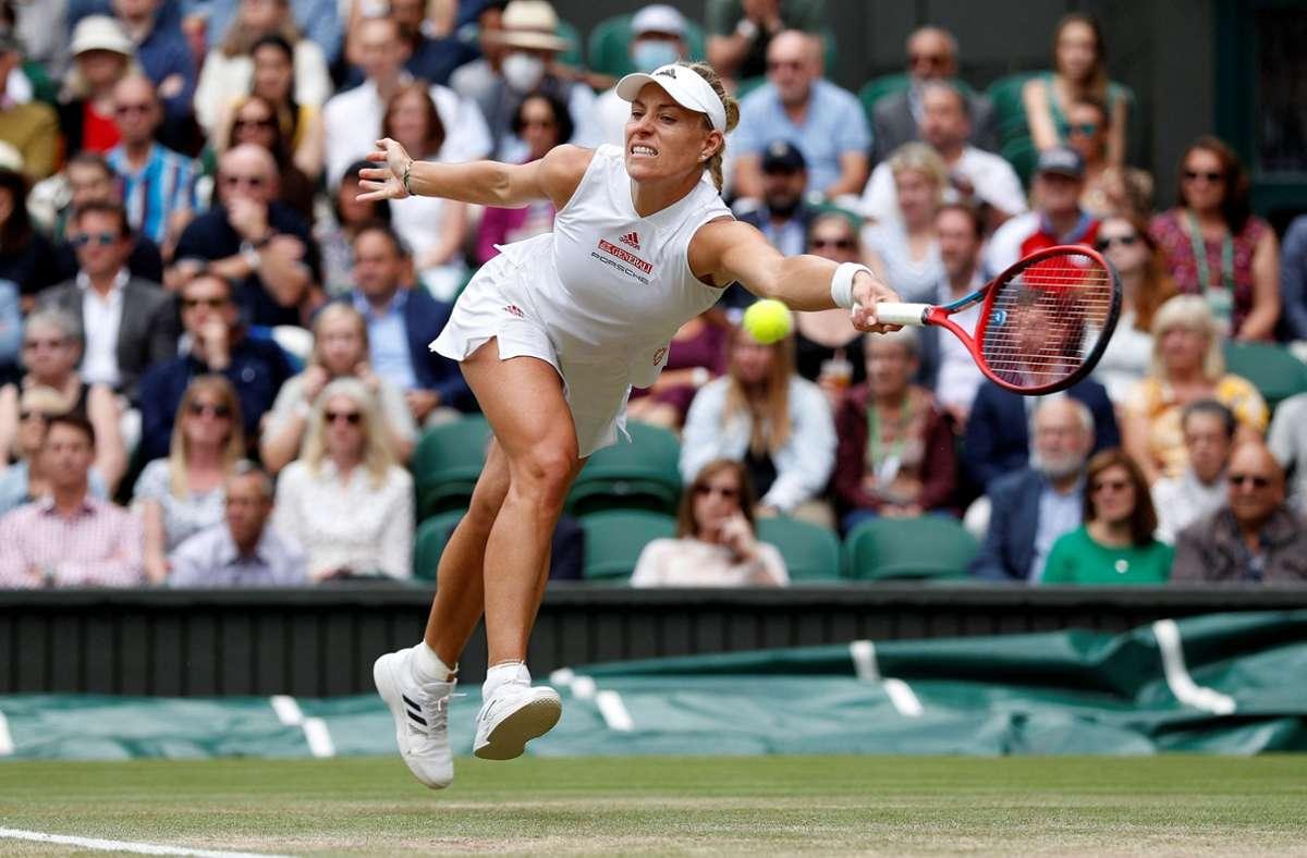 Angelique Kerber hat ihre drittes Finale in Wimbledon verpasst. Foto: AFP/ADRIAN DENNIS