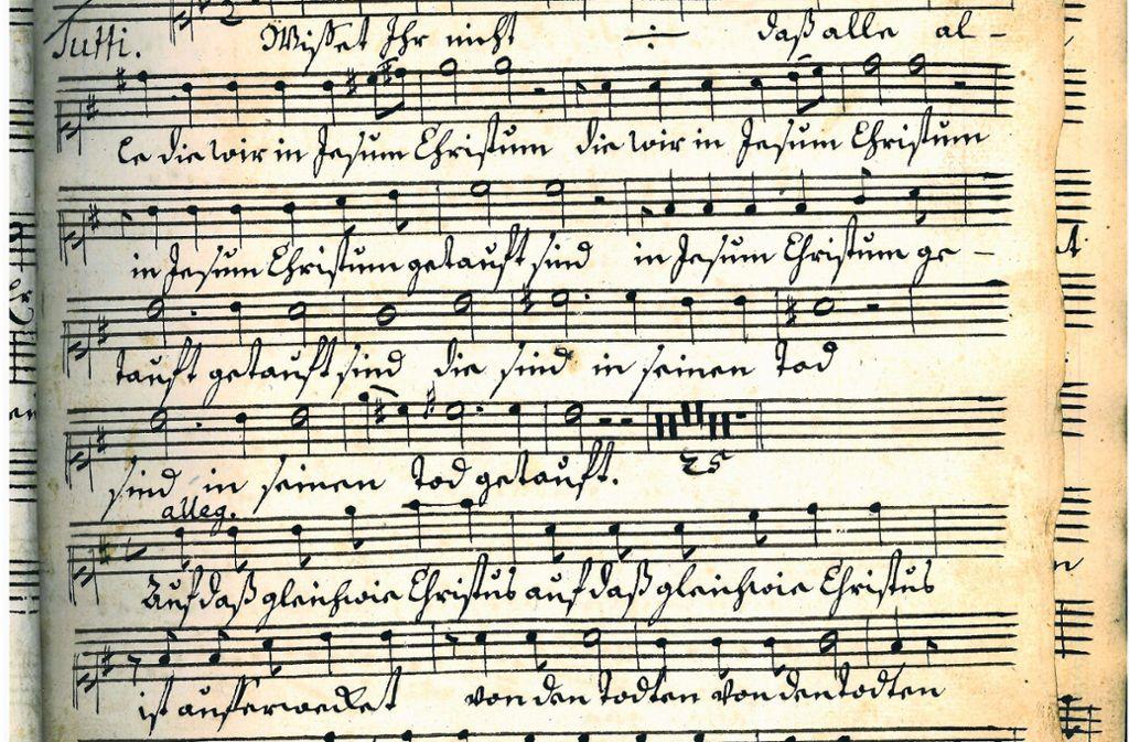 Historische Noten in der Rohfassung Foto: privat