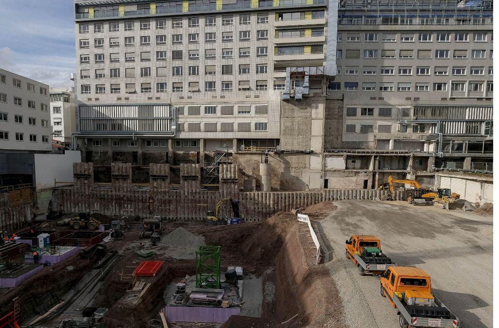 Vor allem das Katharinenhospital des Klinikums Stuttgart ist seit Jahren eine Baustelle. Durch die Neubauten soll das Krankenhaus auch effektiver arbeiten. Foto: Lichtgut/Leif Piechowski