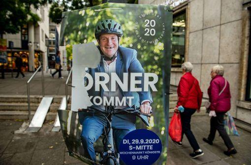 Schmierfinken und Herbstwind zerstören die ersten OB-Wahlplakate