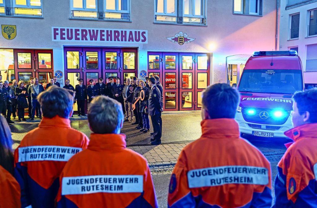 Im Februar erhielt die Rutesheimer Feuerwehr bereits einen  Mannschaftstransportwagen. Nun gibt es Löschfahrzeuge. Foto: factum/Bach