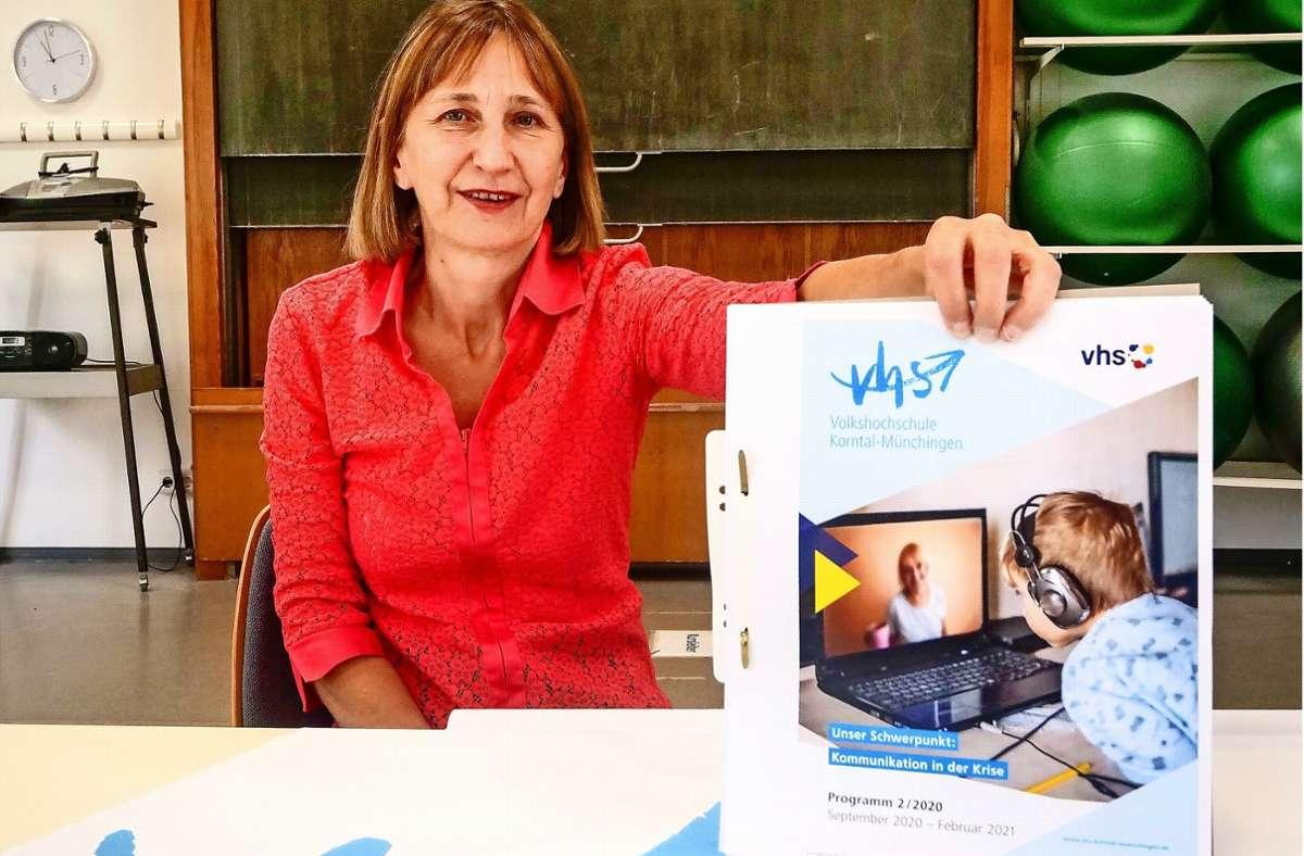 Die Leiterin der Korntal-Münchinger Volkshochschule, Cornelie Class-Hähnel, freut sich auf das neue Semester. Foto: factum/Simon Granville