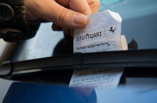 Deutlich weniger Strafzettel in Stuttgart – doch die Sache hat einen Haken
